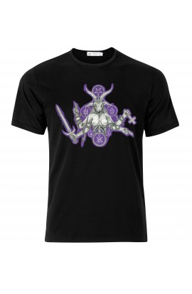 T-shirt Baphomet Purple