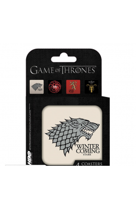GAME OF THRONES - Set 4 Dessous de verre