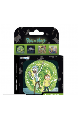 RICK AND MORTY - Set 4 Dessous de verre