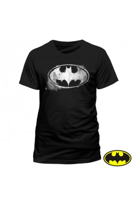 T-shirt Batman Logo Craie